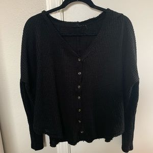 Urban Outfitters Tops - Our From Under Oversized Thermal Button-Front Top